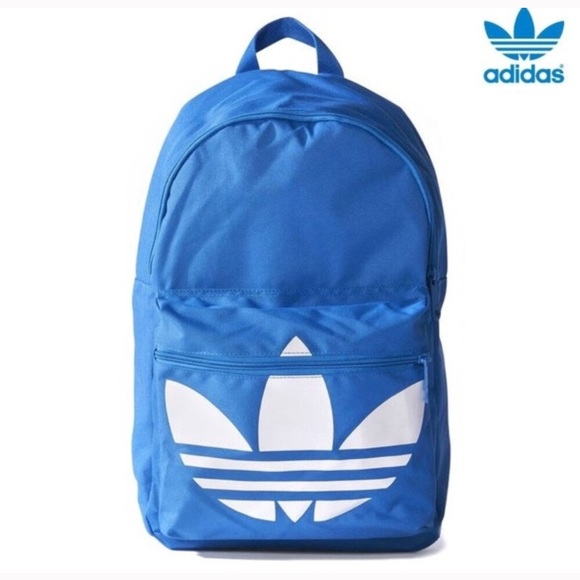 factory outlet 100% top quality 50% off Adidas Originals Trefoil Backpack Blue